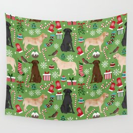 Labrador retrievers christmas festive holiday gifts for dog lover in your life dog breeds custom art Wall Tapestry