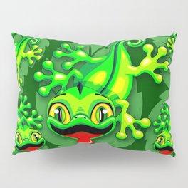 Gecko Lizard Baby Cartoon Pillow Sham