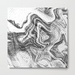 Marbled Letters Metal Print