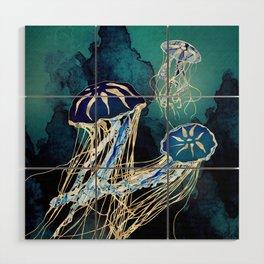 Metallic Jellyfish III Wood Wall Art