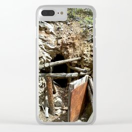 Colorado Gold Rush Mine and Cabin, No. 2 of 3 Clear iPhone Case