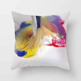 Paint Brush 2 Throw Pillow