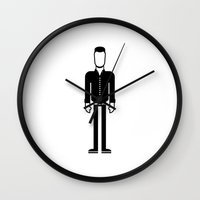 johnny cash Wall Clocks featuring Johnny Cash  by Band Land