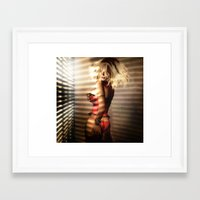 striped Framed Art Prints featuring Striped by DeeDee