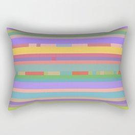 Bright Mosaic Stripes Rectangular Pillow