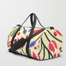 Waves of Flower (Bright Color Floral) Duffle Bag