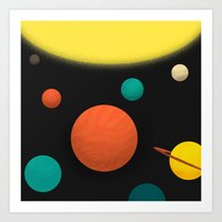 solar system Art Prints featuring Solar system by Sarajea