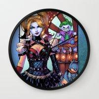 nicki Wall Clocks featuring Harley - Gotham Girls 3 by J Skipper