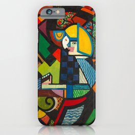 Daughter in a Rocker, H. Lyman Sayen, 1918 Abstract Painting iPhone Case