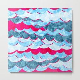 Abstract Sea Waves Design Metal Print