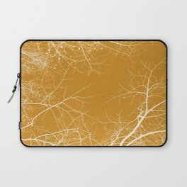 Branches Impressions on Yellow Laptop Sleeve