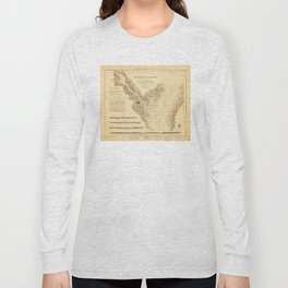 Map of the Harbor of Annapolis (1846) Long Sleeve T-shirt