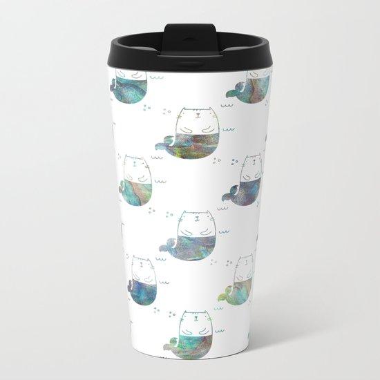MerKitty Ocean Seashell Metal Travel Mug
