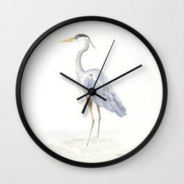 Heron Facing Left Wall Clock