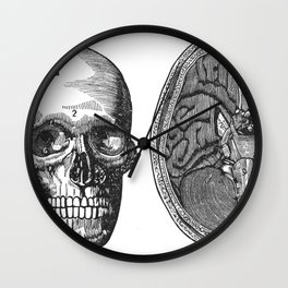 Front view of the head and lower surface of the brain Wall Clock