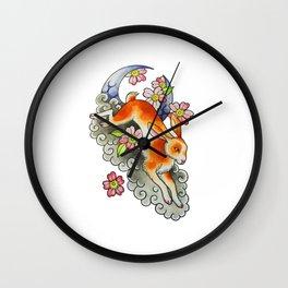 Moon Rabbit Wall Clock