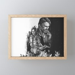 The Last Of Us Part II - Ellie and Joel Framed Mini Art Print