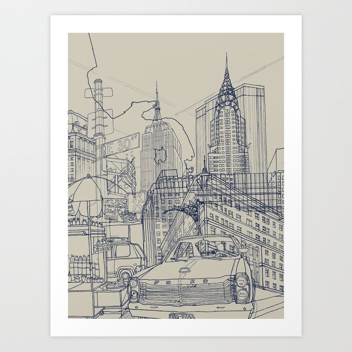 New York! Art Print