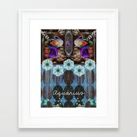 aquarius Framed Art Prints featuring Aquarius by The New Old World