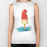 popsicle Biker Tanks featuring POPSicle... by Mark Tonelli Design
