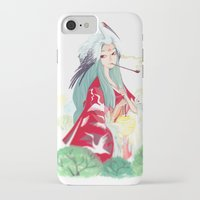 crane iPhone & iPod Cases featuring Crane by jinzilla