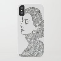 audrey hepburn iPhone & iPod Cases featuring Audrey Hepburn by S. L. Fina