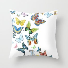 Butterflies 03 Throw Pillow