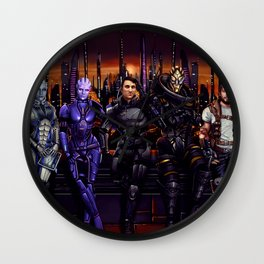 Mass Effect - Team of Awesomness Wall Clock