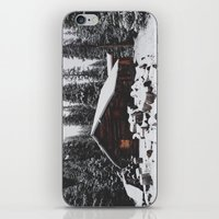 cabin iPhone & iPod Skins featuring Winter Cabin by Kevin Russ