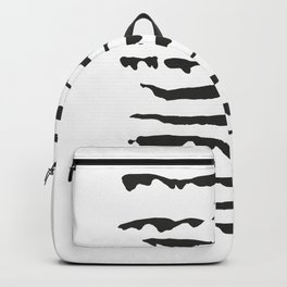 Black and white abstract art. Backpack