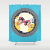 breaking Shower Curtains featuring Breaking by Stubarb