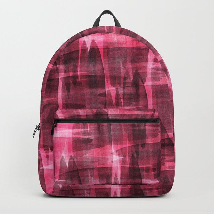 Abstract watercolor pattern. Backpack