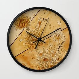 Blooming Tea Wall Clock