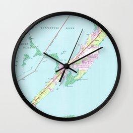 Vintage Rock Harbor Florida Map (1947) Wall Clock