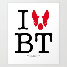 I ♥ BOSTON TERRIER Art Print