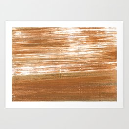 Light brown abstract Art Print