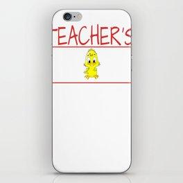 Teacher's Chick Gift Wife Girlfriend product iPhone Skin