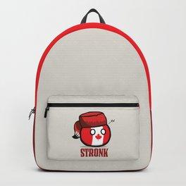 Canada CanadaBall Polandball memes Canadian racoon tail fur hat Backpack