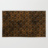 leather Area & Throw Rugs featuring Leather Armor by SShaw Photographic