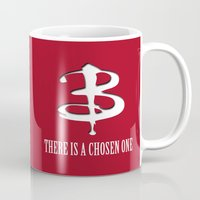 buffy Mugs featuring Buffy - In Every Generation by BovaArt