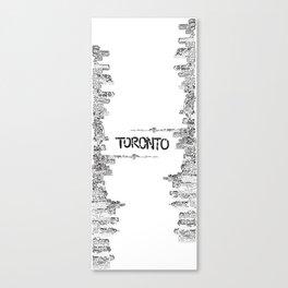 Doodling Toronto Canvas Print