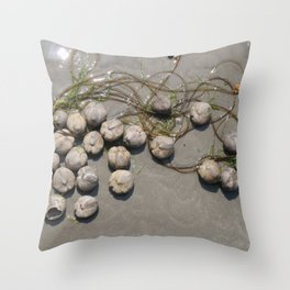 Sea Urchin Necklace Throw Pillow