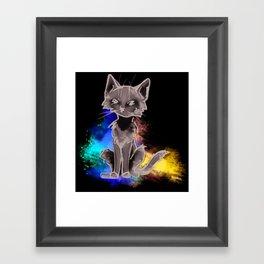 Painter Cat Framed Art Print