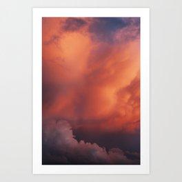 Candy Floss Clouds Art Print
