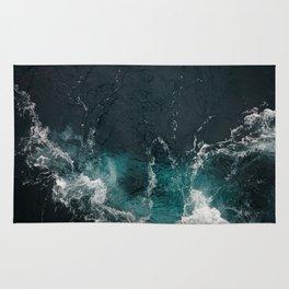 Bluish frothing ocean Rug