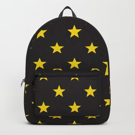 Stary Stars - Yellow on black background Backpack