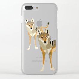 Wolves of the World: Canis lupus pallipes (c) 2017 Clear iPhone Case