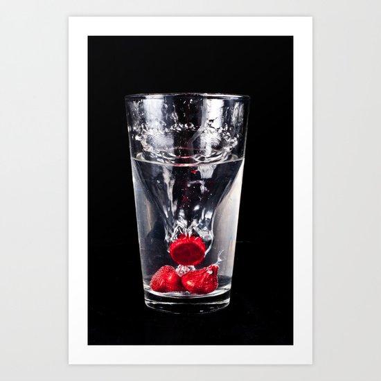 Kiss Glass Art Print