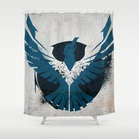 infamous Shower Curtains featuring inFamous Second Son Good Karma 1 by Kyrsten Carlson