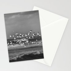 Seagulls flying over the mediterranean sea in Tel Aviv,Israel Stationery Cards